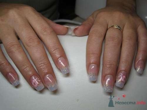 Серебристый френч - фото 6228 PerfectioNails - наращивание ногтей гелем и акрилом