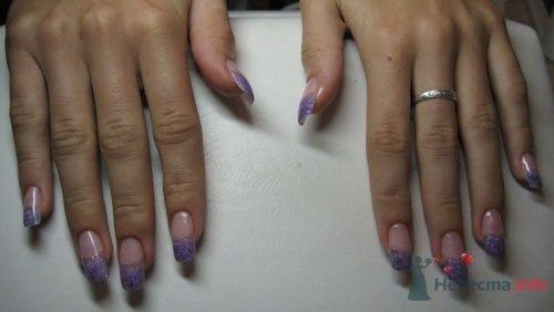 Сиреневый френч - фото 6241 PerfectioNails - наращивание ногтей гелем и акрилом