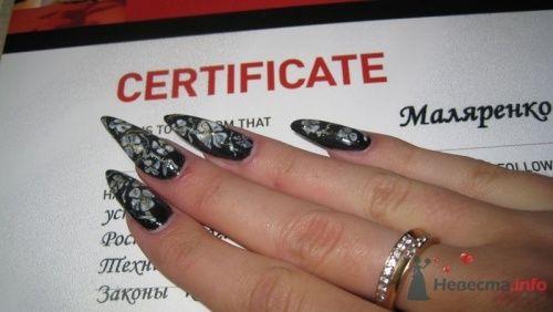 Черные ногти - фото 6250 PerfectioNails - наращивание ногтей гелем и акрилом