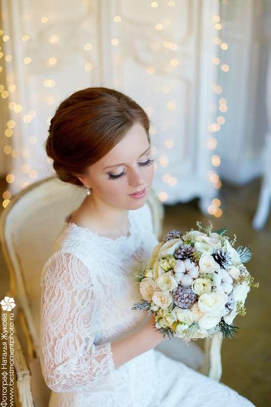 Зимний образ невесты, букет для зимней свадьбы - фото 3356285 Фотограф Наталья Жукова
