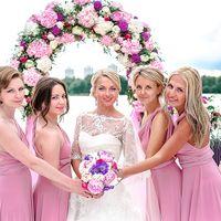 Невеста и её подружки в розовом