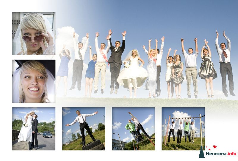 Свадебный коллаж  - фото 88519 Видеооператор Алексей Никулин