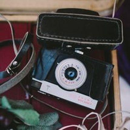 Ретро фотоаппарат смена с чехлом