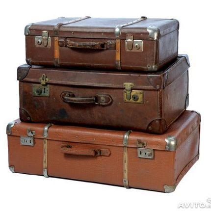 Ретро чемоданы разных размеров