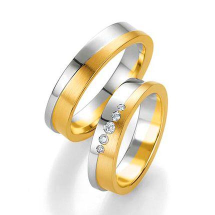 Мужское обручальное кольцо из комбинированного золота на заказ