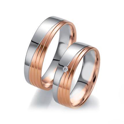 Обручальные кольца из комбнированного золота на заказ