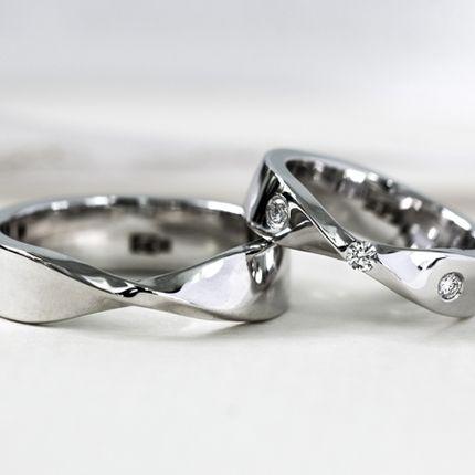 Обручальные кольца с символом Мебеуса (Арт 4091)