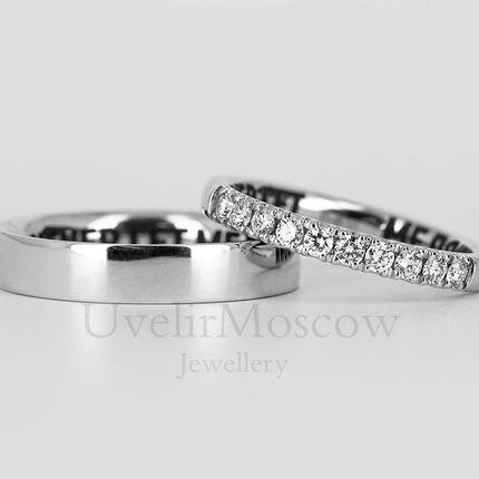 Обручальные кольца с дорожкой бриллиантов (арт.3503)