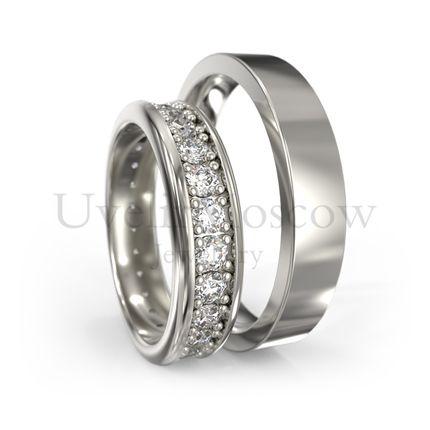 Обручальные кольца с бриллиантами (Арт 1202)