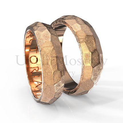 Обручальные кольца с гранями  (Арт 863)