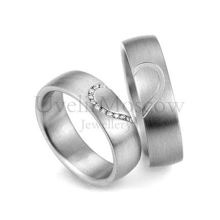 Обручальные кольца с бриллиантами  Артикул 823
