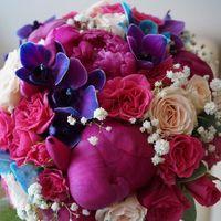 Яркий букет невесты Ольги