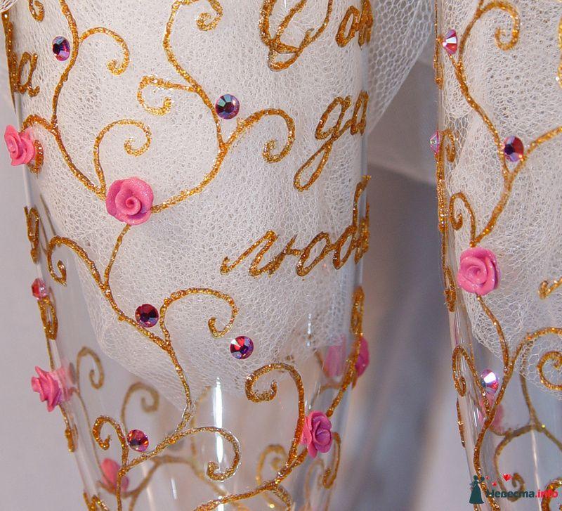 """Фото 91541 в коллекции Свадебные бокалы модель """"Любовь и розы""""  - """"Aнютa"""" - свадебные бокалы и аксессуары"""