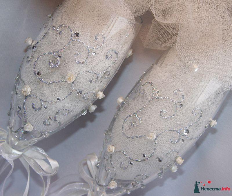 """Фото 126822 в коллекции Свадебные бокалы модель """"Любовь и розы""""  - """"Aнютa"""" - свадебные бокалы и аксессуары"""