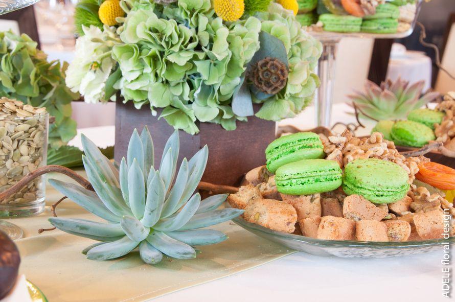 сладкий стол элементы - фото 4696105 Adele floral design - оформление свадеб
