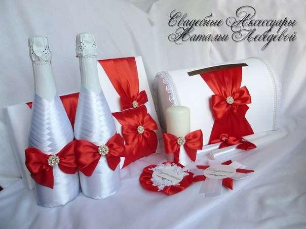 Для свадьбы своими руками бело-красного цвета 864