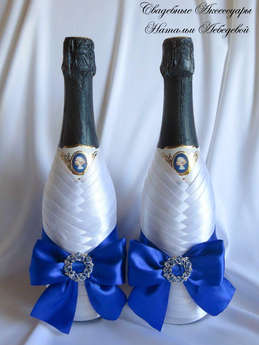 Как можно украсить шампанское на свадьбу своими руками