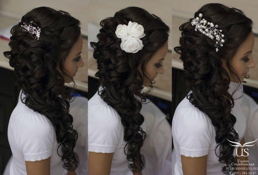 Свадебные прически для длинных волос на бок