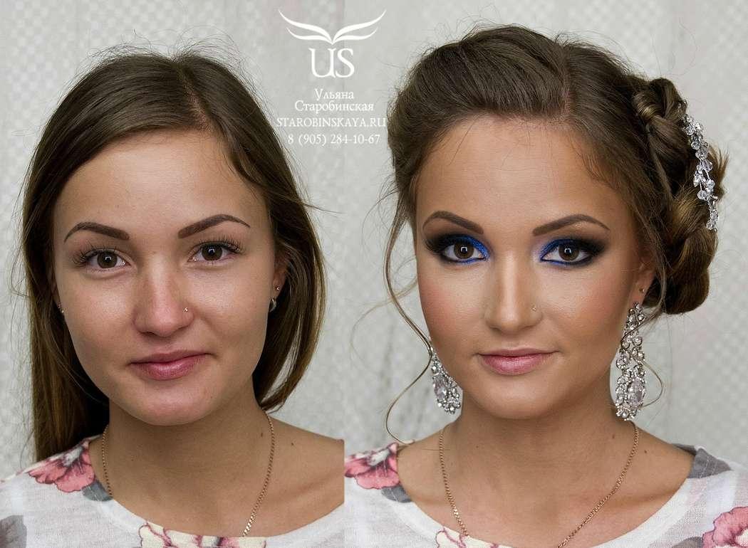 Вечерний макияж для карих глаз русые волосы