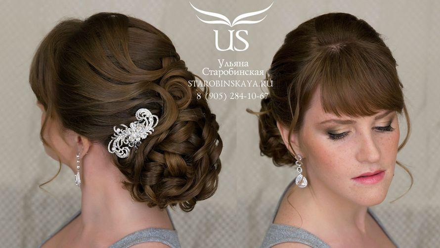 Прическа для мамы невесты на средние волосы с кудряшками