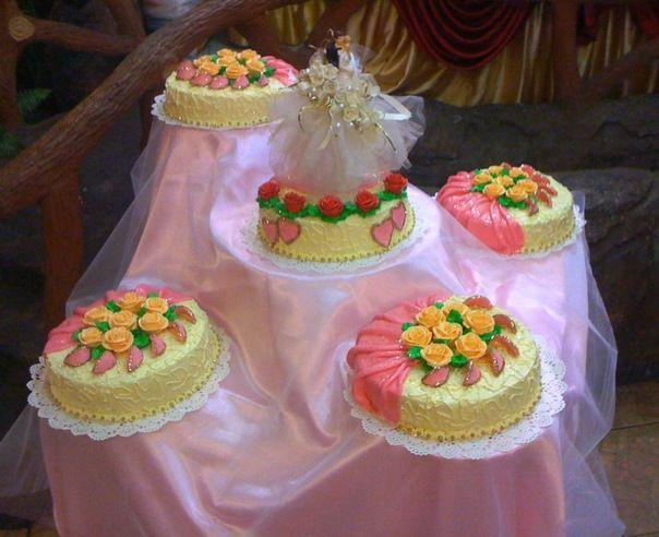 свадебныекомпозмции из торты фотографии