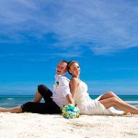 Свадебная фотосессия на острове Саона в Доминикане.