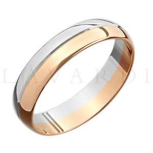 """Двусплавное обручальное кольцо. ширина 5мм. Цена 8-10 тыс рублей за кольцо (цена может быть больше или меньше взависимости от размера и веса) 585 проба. - фото 1234251 Салон обручальных колец """"Lavardi"""""""