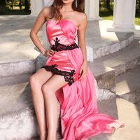 Подружка невесты - розовое и черное кружево