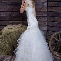 """Свадебное платье """"Рыбка"""" с нежными воланами."""