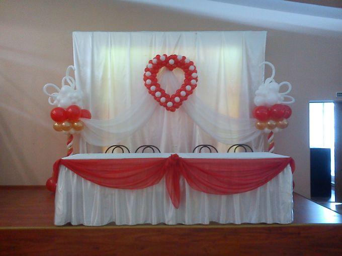 Как сделать ламбрекен на свадебный стол