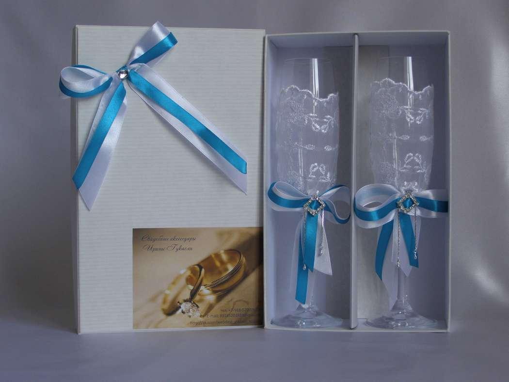 Коробки под свадебные бокалы своими руками