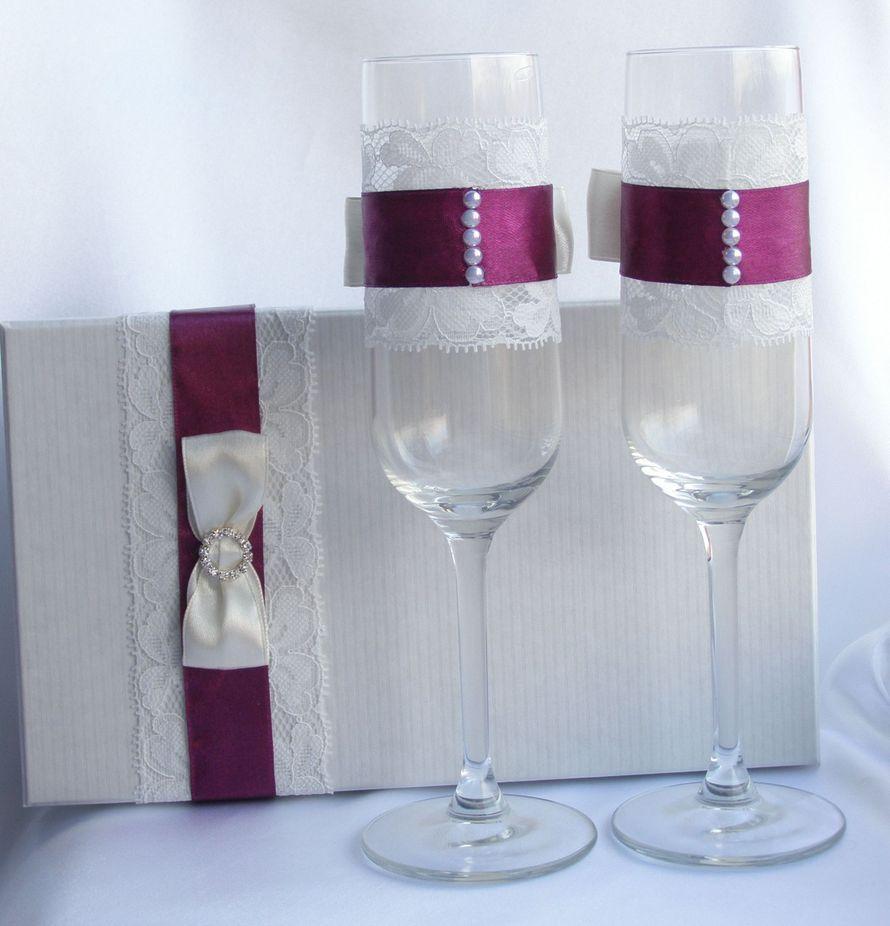 Украшение свадебных бокалов своими руками: 100 мастер классов 85