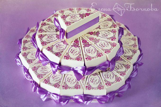 Торт из бонбоньерок фото