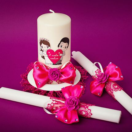 Набор свечей для церемонии в стиле Love is