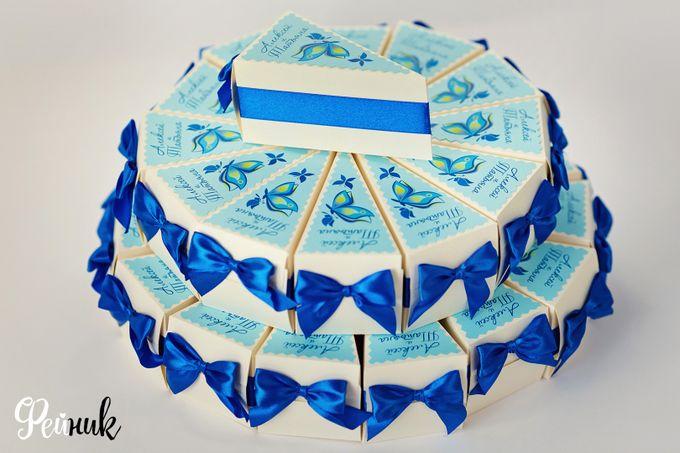 Бонбоньерка в виде торта