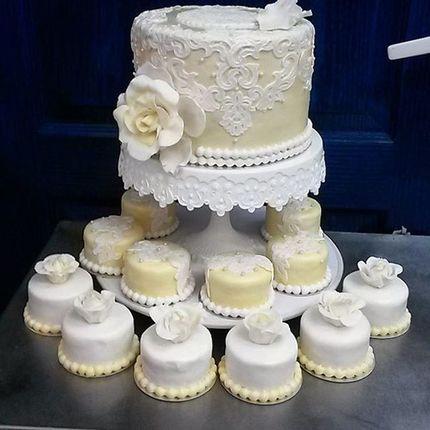 Свадебный кап-кейк