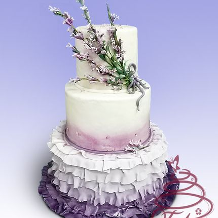"""Торт """"Лавандовая свадьба"""""""