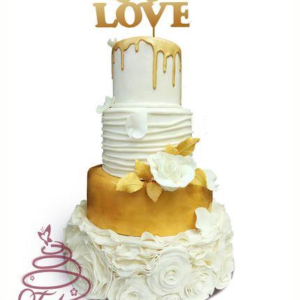 Торт Золотой с топпером