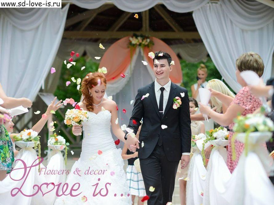 Персиковая свадьба летом в пансионате Былина, выездная регистрация – пример оформления - фото 13487542 Студия декорирования Love is...