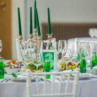 Зеленый свадебный декор