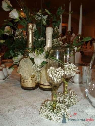 Бокалы с гипсофилой  и осокой - фото 11280 Невеста01