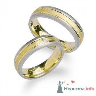 Обручальные кольца из белого и желтого золота - фото 9112 Интернет-магазин Miagold