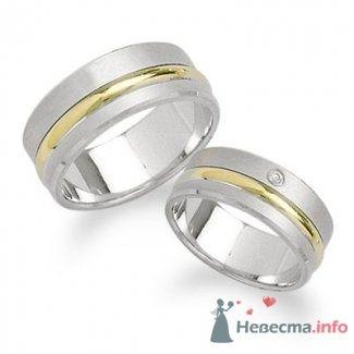 Обручальные кольца из белого и желтого золота - фото 9115 Интернет-магазин Miagold