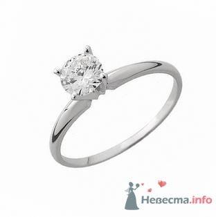 Помолвочное кольцо с бриллиантом - фото 9133 Интернет-магазин Miagold