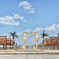 пляж, арка, берег реки, регистрация брака