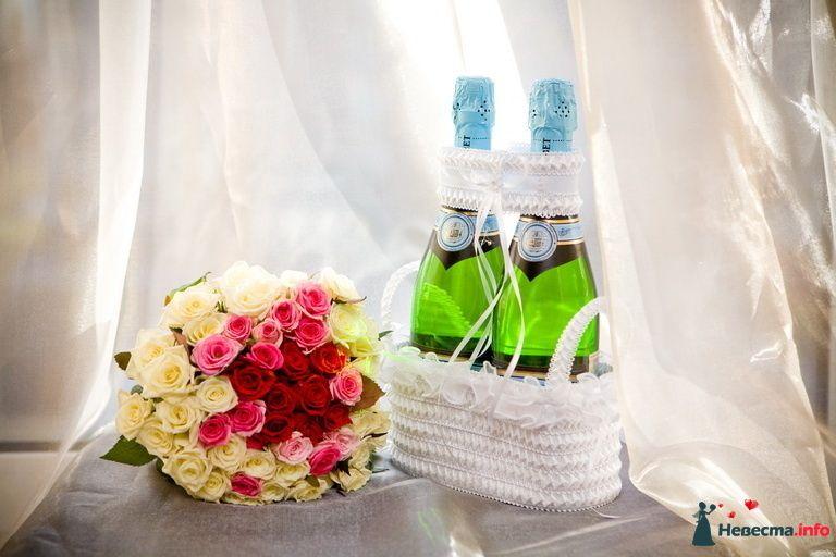 """Букет невесты из красных, розовых и желтых роз - фото 102145 Организация свадьбы - компания """"Кивалл"""""""