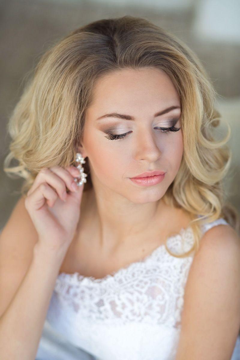Свадебные макияж фото на светлые волосы