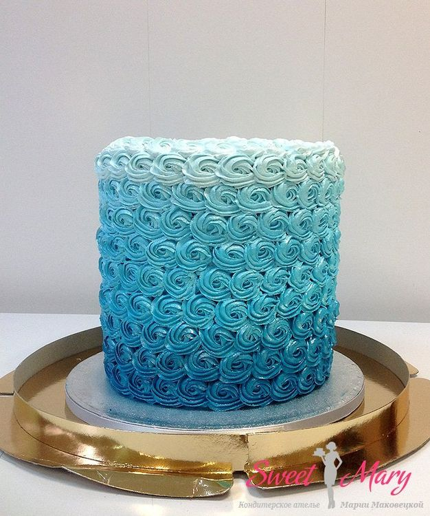 Как сделать на торт волны из крема