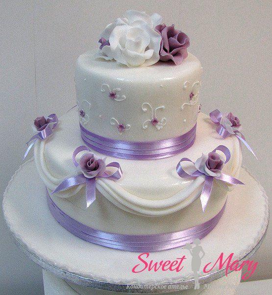 Свадебный торт кондитерского ателье Марии Маковецкой, сделан по фото из интернета - дегустация, доставка, заказ на сайте Sweet Mary.