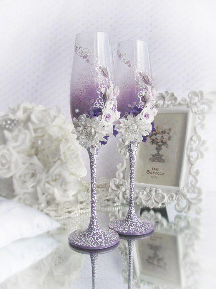 Фото 1041149 в коллекции Бокалы - Свадебные аксессуары от WeddingDecor
